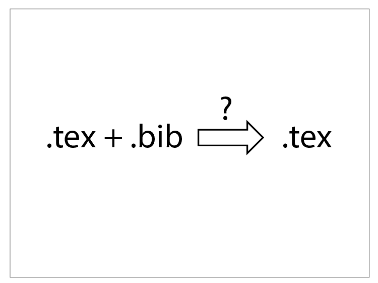 Inserting .bib into .tex for a single source file